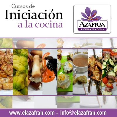 Curso de inicición a la cocina - Escuela Azafrán