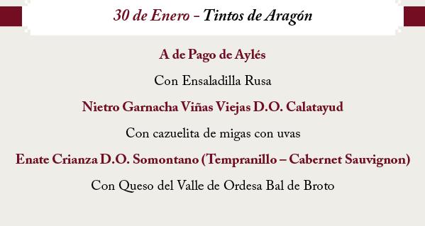 Cata de vinos tintos de Aragón