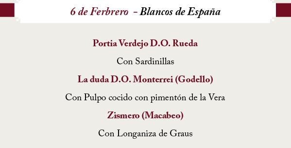 Cata de vinos blancos de España