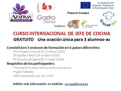 Curso internacional de jefe de cocina