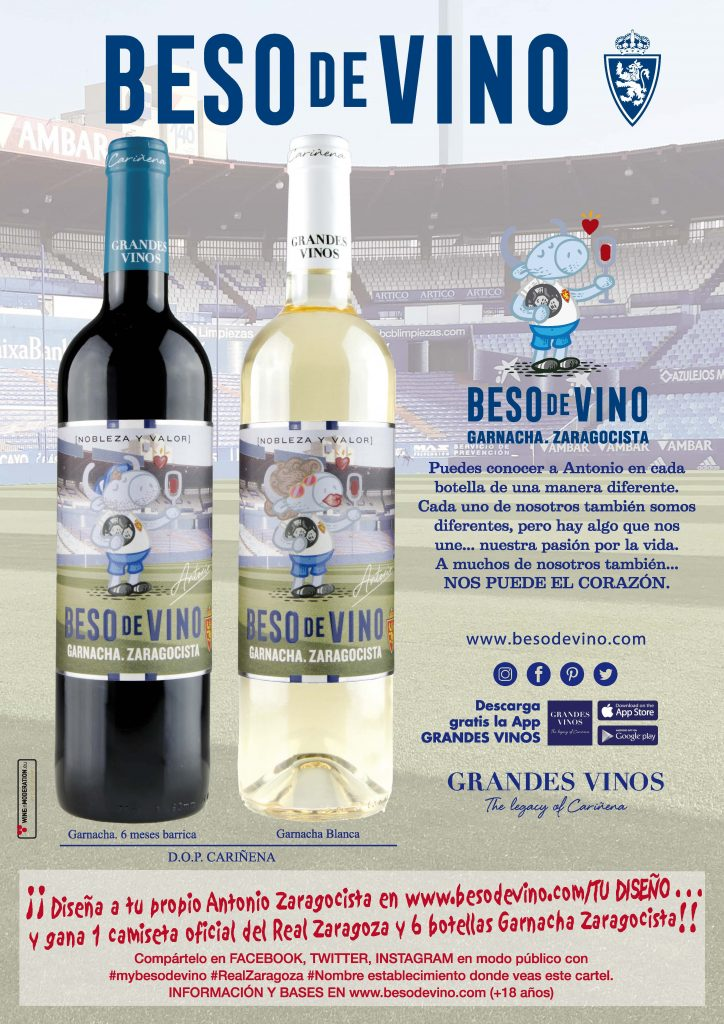 cartel Besos de Vino Zaragoza