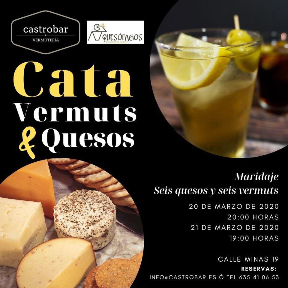 Cata de vermuts y queso Castrobar Vermutería