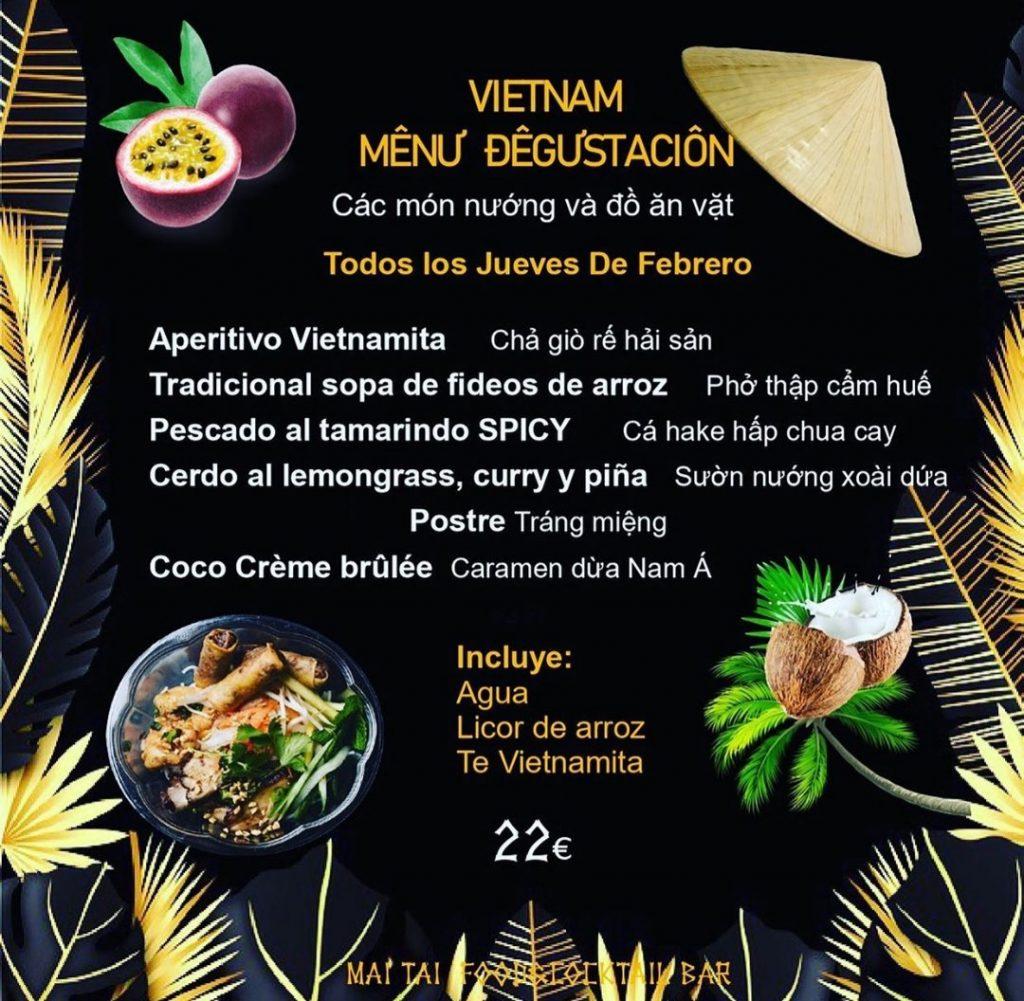 Menú Degustación Vietnam en Mai Tai