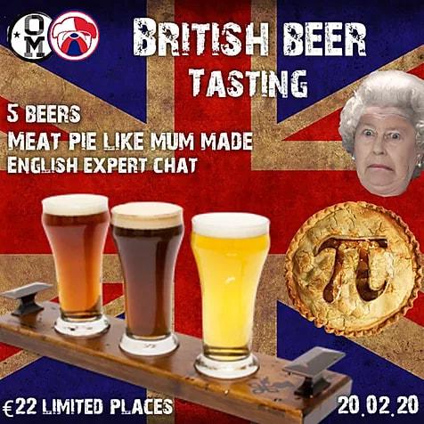 Degustación de cervezas inglesas en Ordio