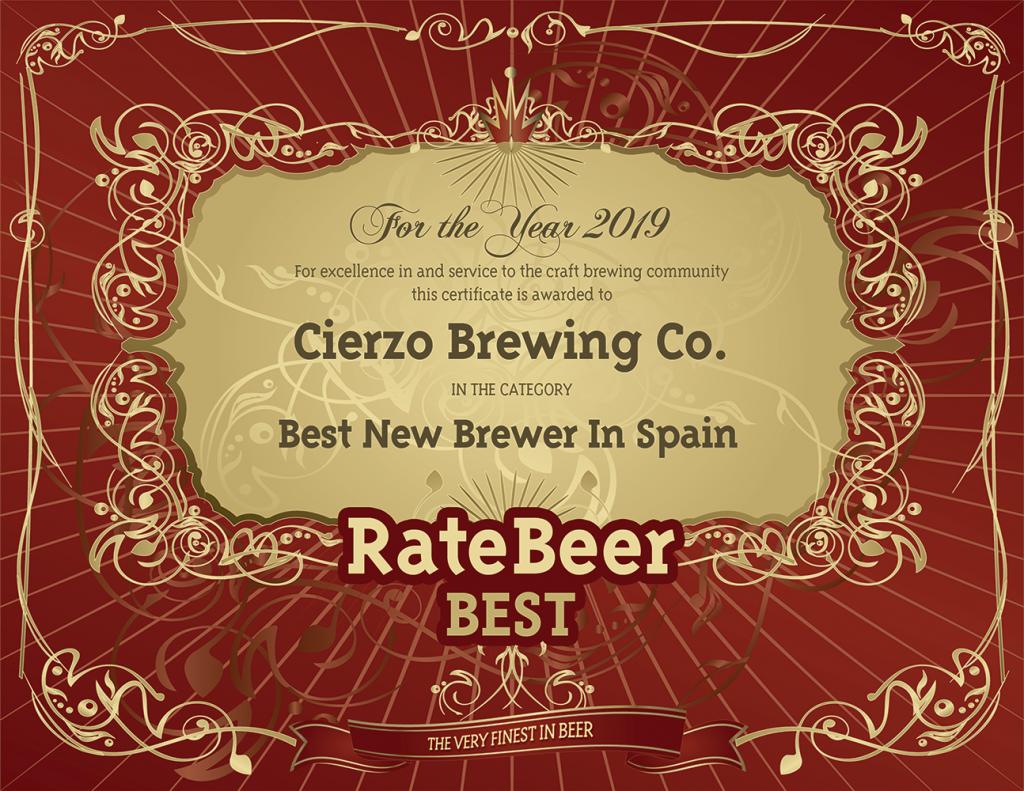 RB2019 Cierzo Brewing Co premio
