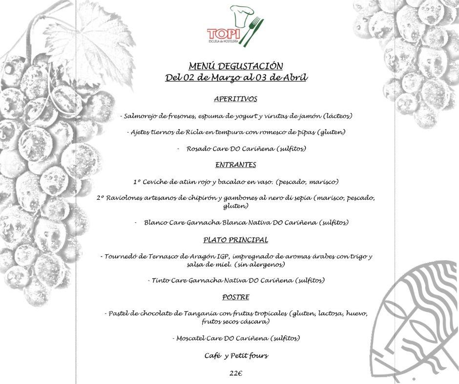 2020 marzo TOPI menu
