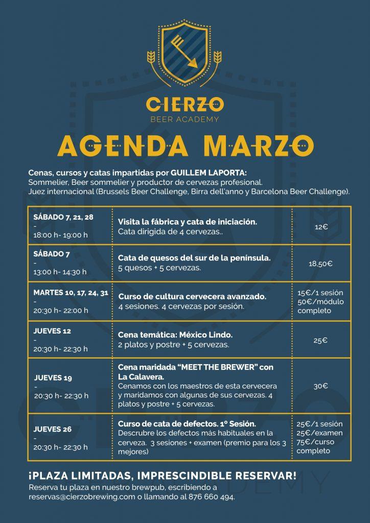 Agenda marzo Cierzo