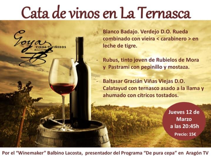 Cata de vino en La Ternasca