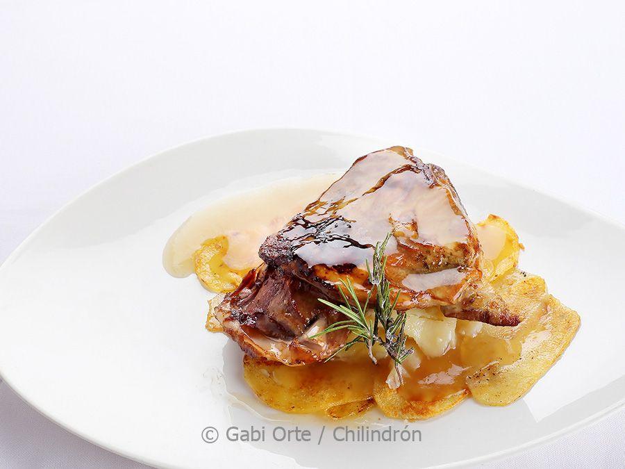 paletilla ternasco aragonpatatas panadera GOC Albarracin