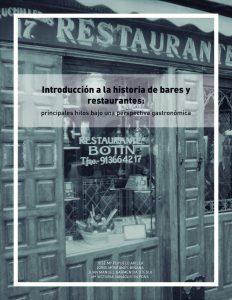 Introduccion a la historia de bares y restaurantes