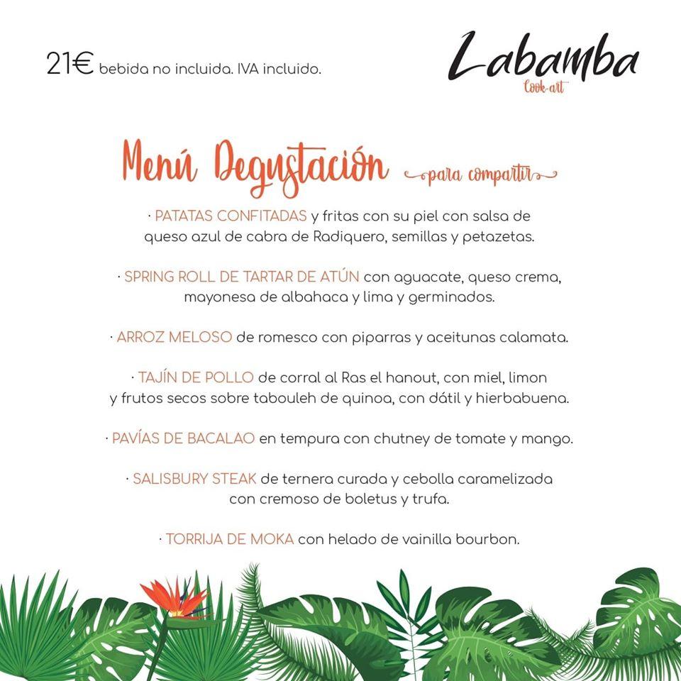 Labamba Menú
