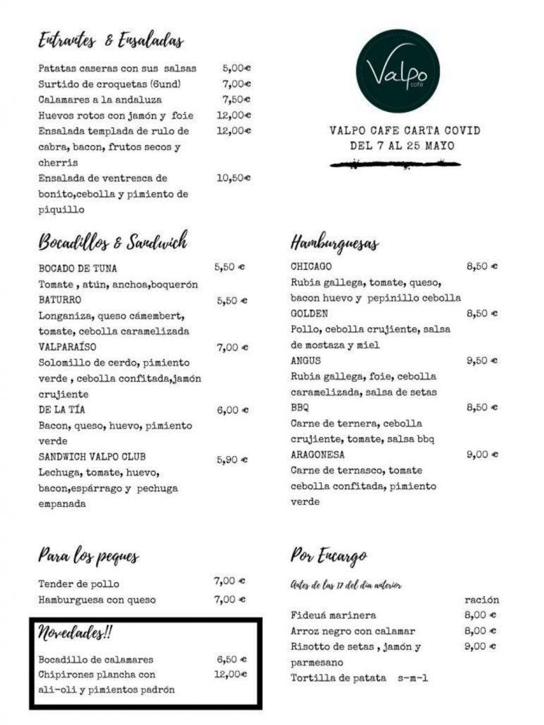 Carta Valpo Café