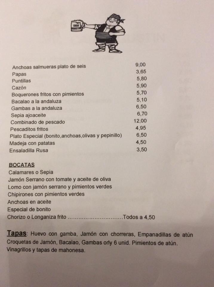 Carta Casa Agustín