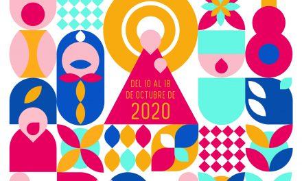 Pilares geométricos, cartel anunciador de las Fiestas del Pilar 2020