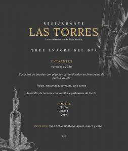 Menu Las Torres 1