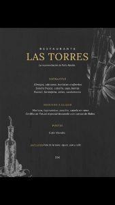 Menu Las Torres 2