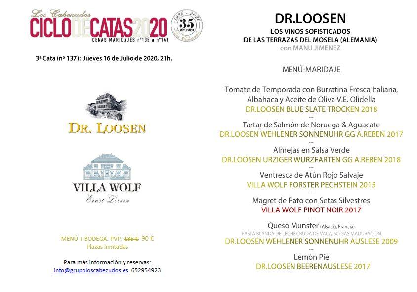 Ciclo de catas - Dr. Loosen en Los Cabezudos