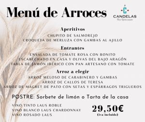 2020 Menu de arroces Candelas 2020