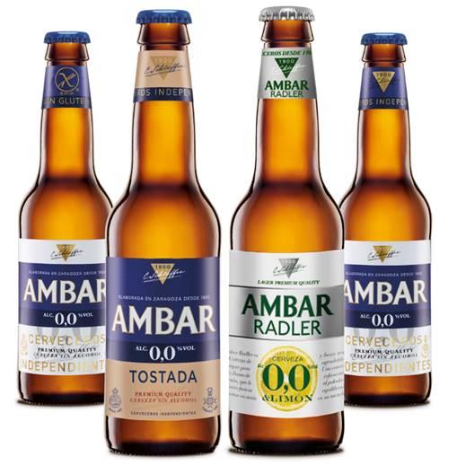 Nuevas cervezas Ambar sin alcohol