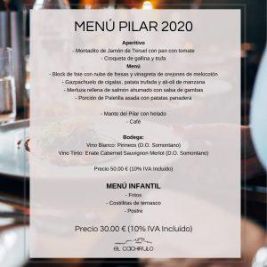 Pilar menu Cachirulo 2020
