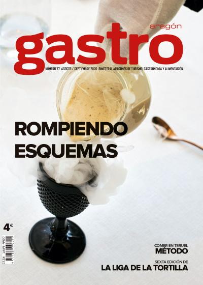 Portada de la revista Gastronómica Gastro Aragón