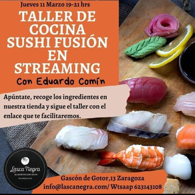 Taller de sushi en Lasca Negra