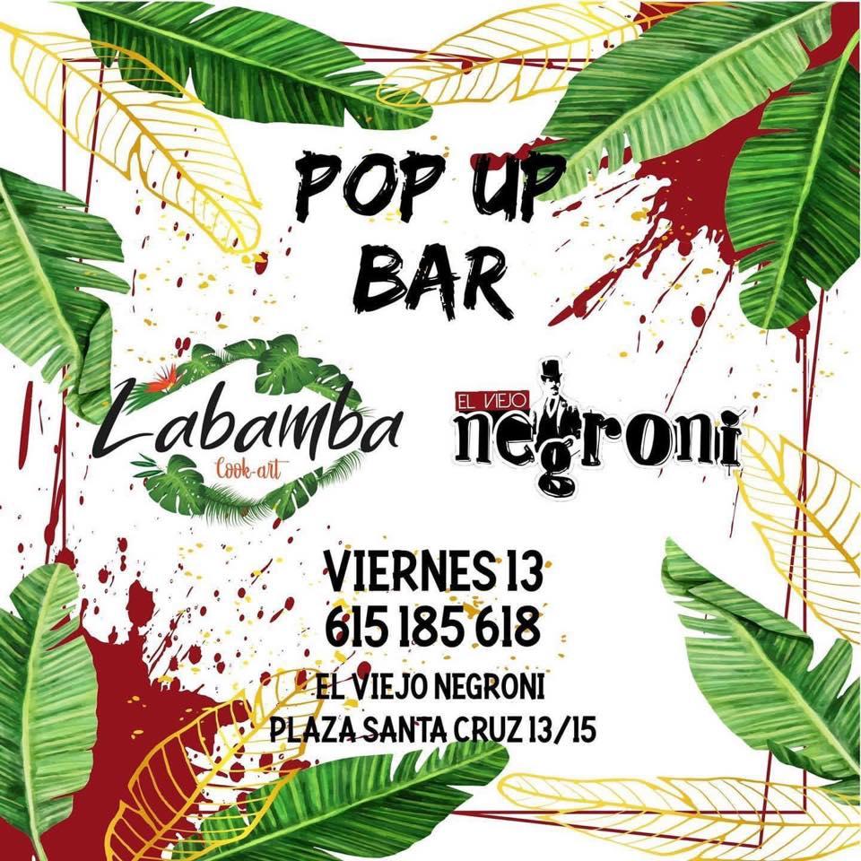Pop up bar - Lambamba y El viejo negroni