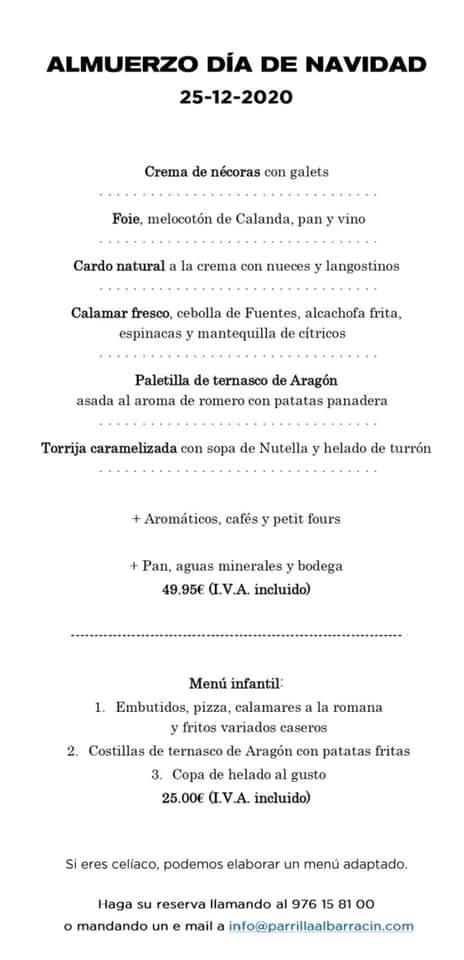Almuerzo Navidad Parrilla Albarracín