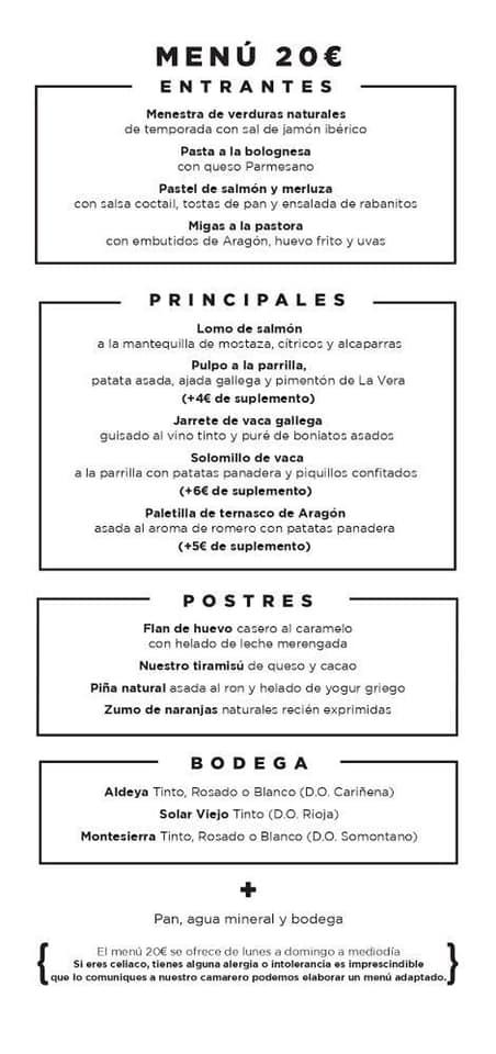 Menú semanal Parrilla Albarracín