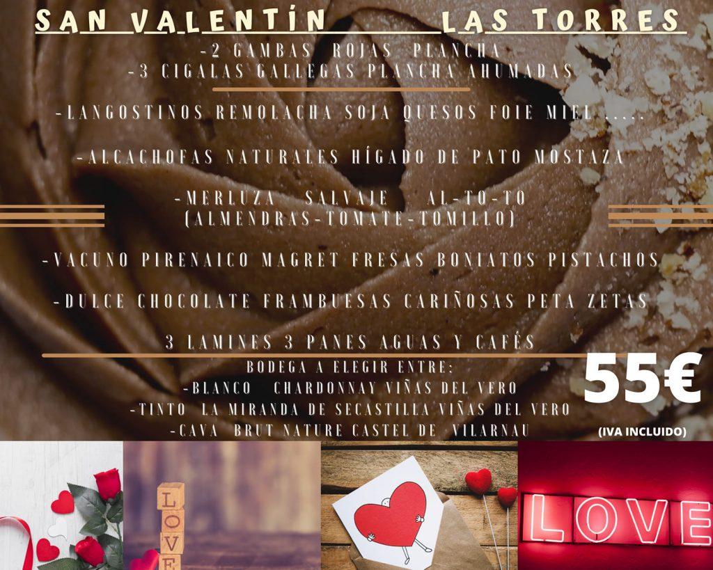 Las Torres - Menú de San Valentín
