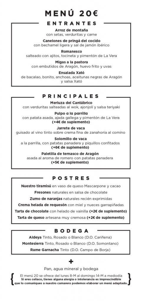 Parrilla Albarracín - Menú