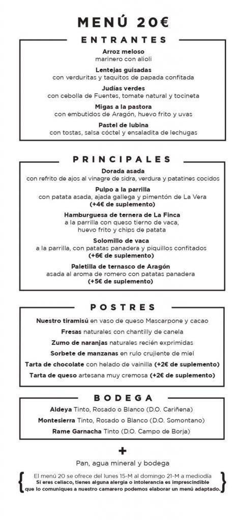 Parrilla Albarracín - Menú semanal