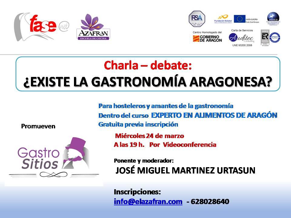 Charla sobre gastronomía aragonesa- José Miguel Martínez Urtasun