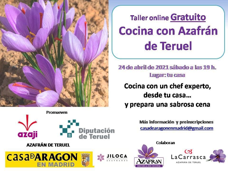Curso de cocina con azafrán de Teruel