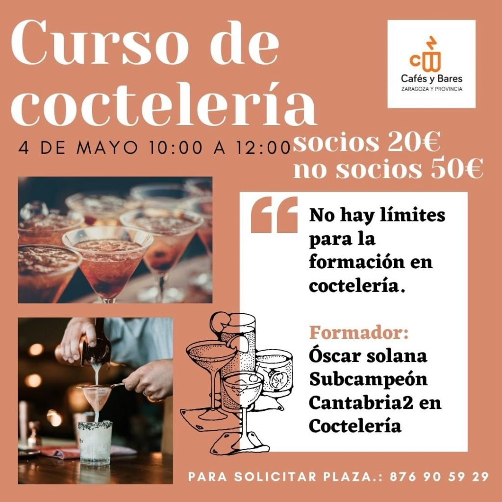 Curso de coctelería - Asociación de cafés y bares