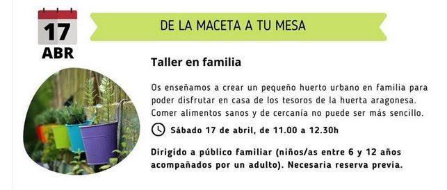 Taller familiar - Aula de medio ambiente urbano-  La Calle Indiscreta