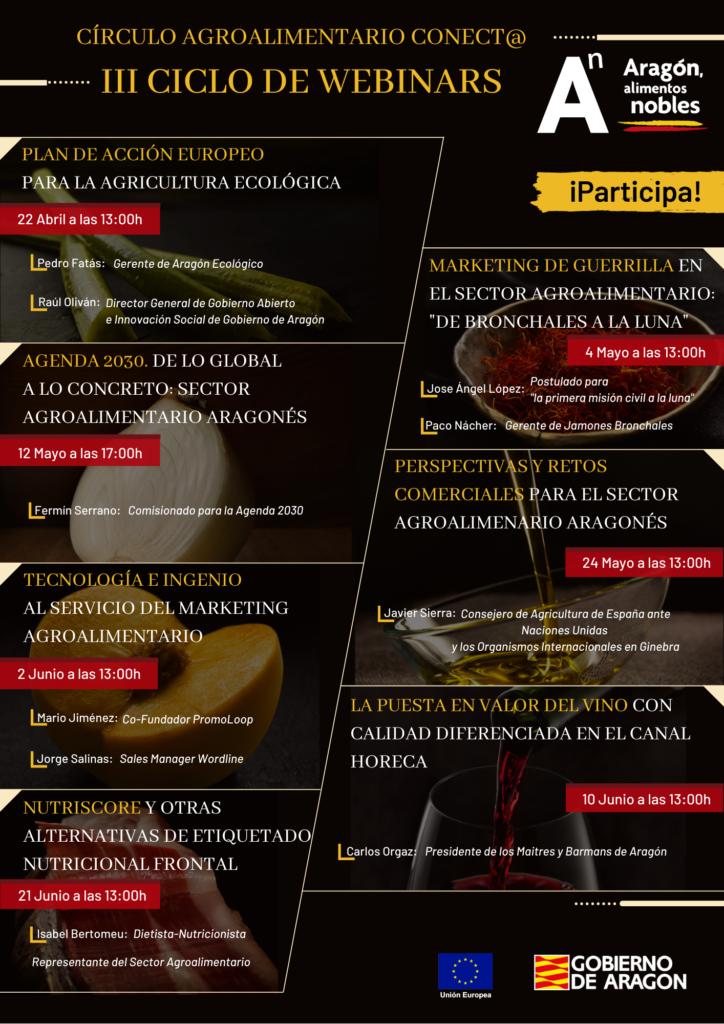 Ciclo de webinars - Aragón Alimentos Nobles