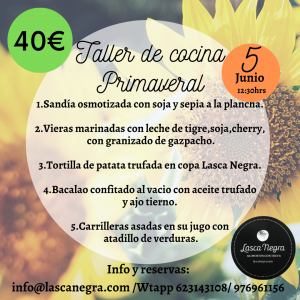 Taller cocina Primaveral Lasca Negra 5.6.21