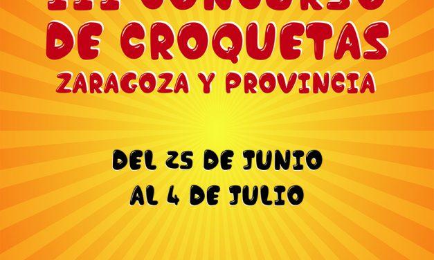 Arranca el III Concurso de Croquetas de Zaragoza y provincia