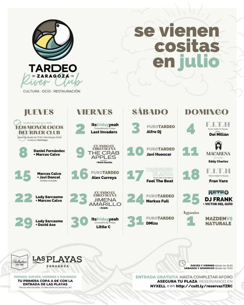 Tardeo Zaragoza julio