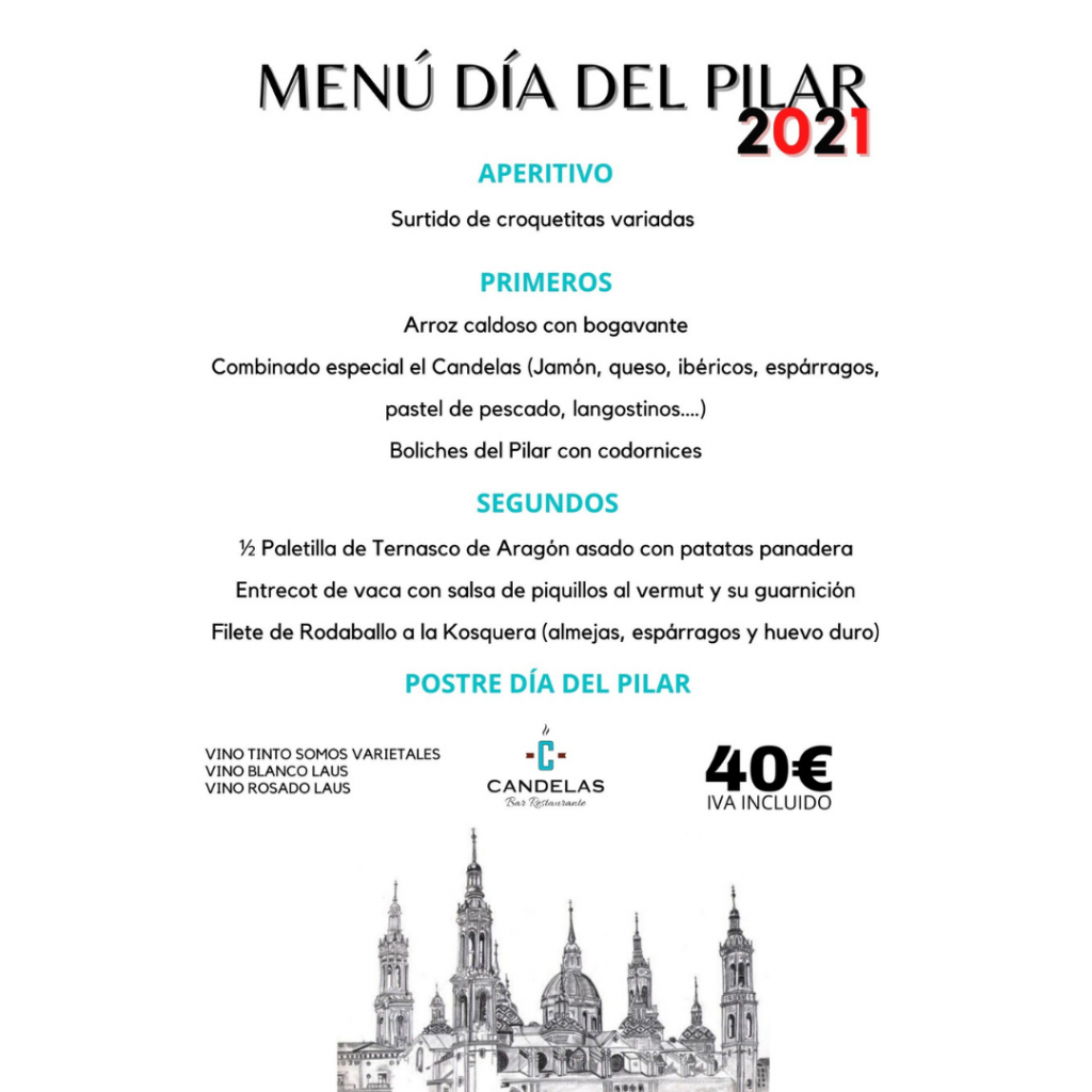 Menú Día del Pilar - El Candelas