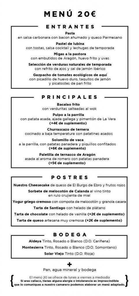 Parrilla Albarracín Menú